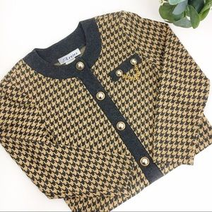 Vintage | Cropped Houndstooth Jacket size Medium